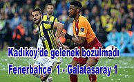 Fenerbahçe evinde Galatasraay'a karşı yenilmezlik serisini sürdürdü