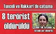 Hakkari'de çatışma, 4 terörist öldürüldü