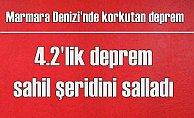 Marmara'da korkutan deprem | Şarköy 4,2 ile sallandı
