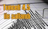 Tunceli'de deprem, Nazımiye 4,5 ile sallandı