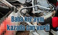 Balıkesir Kepsut'ta feci kaza, baba kız can verdi