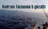Bodrum'da göçmen faciasına 5 gözaltı