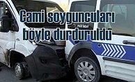 Camiden kablo çalan hırsızları polis ateş açarak yakaladı