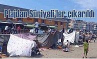 Mudanya sahilinde Suriyeli'lerin çadır işgali sona erdi