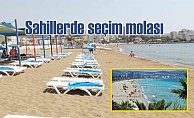 Sahiller turistlere kaldı, plajlar boşaldı