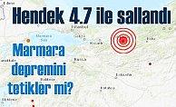 Sakarya'da deprem, Hendek 4.7 ile sallandı