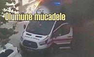 Hasta taşıyan ambulans ateş aldı, hemşireler alevlere daldı