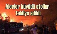 Otluk alanda çıkan yangın otelleri vurdu