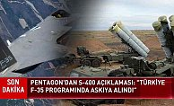 Pentagon Türkiye'nin F-35 programı askıya alındığını duyurdu