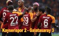 Galatasaray 3 puanı uzatmalarda aldı