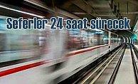 İstanbul'da şehir içi ulaşım 24 saat sürecek