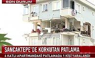 Sancaktepe'de patlama 5. katın duvarları uçtu