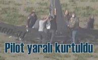 Büyükçekmece'de eğitim uçağı düştü, pilot yaralı kurtarıldı