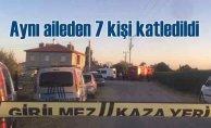 Konya'da silahlı saldırı | Aynı aileden 7 kişi öldürüldü
