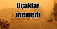 Adana; Toz bulutu yüzünden uçak piste inemedi