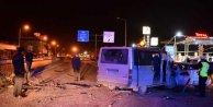 Adana'da işçi servisi faciadan kıl payı kurtuldu