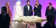 Erdoğan ve  Davutoğlu nikah şahidi oldu