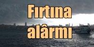 İstanbul'da fırtına uyarısı: Deniz ulaşımı durdu