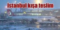 İstanbul'da kara kış hakim; Kar kalınlığı 20 santimi buldu