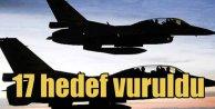 Kuzey Irak'ta gece yarısı 17 ayrı hedefe bomba yağdı