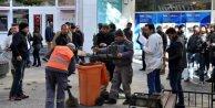 Teröristler bombayı çöp kovasına koymuş
