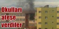 Teröristler Şırnak'ta 3 okulu ateşe verdi