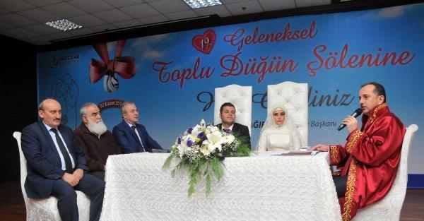 Toplu Düğün Töreninde 48 Çift Muradına Erdi