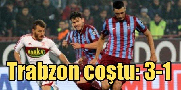 TrabzonsporMedicana Sivasspor: 3-1