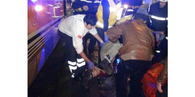 Tramvay yolunda bacak kurtarma operasyonu
