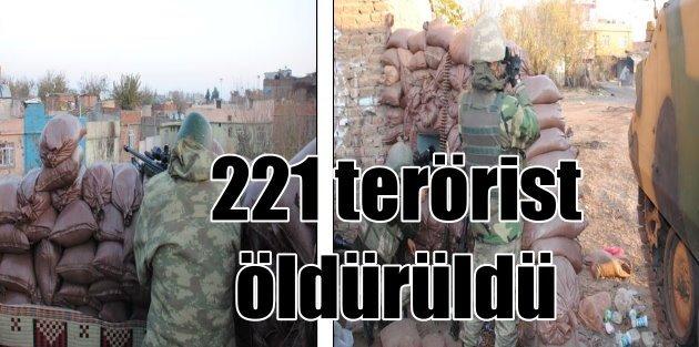 TSK açıkladı: 4 ilde 221 PKK'lı terörist öldürüldü