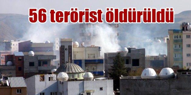 TSK Açıkladı; Cizre'de 31, bölgede 56 terörist öldürüldü