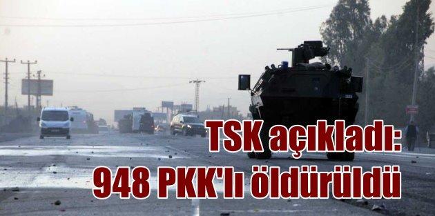 TSK: Terörist cesetlerini toplamıyoruz