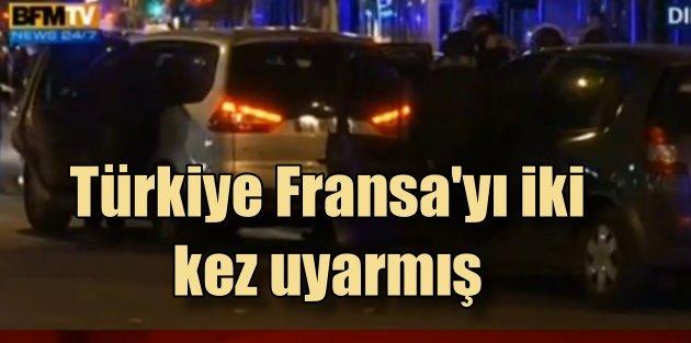 Türkiye, Paris bombacılarını Fransa'ya iki kez bildirmiş