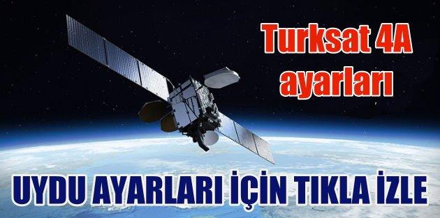Turksat 4A uydusu nasıl...