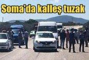 Teröristler Soma'da yola bombalı tuzak kurdu