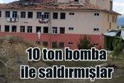 PKK Kulp Zeyrek Karakolu'na 10 ton bomba ile saldırmış
