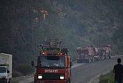 Adrasan'da yangın kontrol altında: Geriye küller kaldı