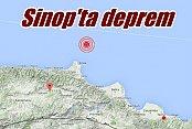 Sinop'ta deprem: Sinop 4.3 depremle sallandı