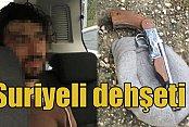 Suriyeli saldırgan polise silah çekti