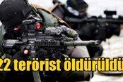 PKK Nusaybin'de ağır kayıp verdi. 22 terörist öldürüldü