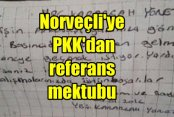Norveçli gazeteci PKK'dan referans almış