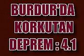 Burdur'da 4.2 Büyüklüğünde Deprem