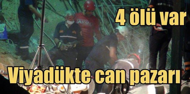 Viyadük çöktü, enkaz 12 satte kaldırıldı: 4 işçi can verdi