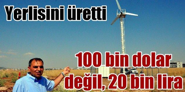 Yerli malzemeyle elektrik türbini: 100 bin dolar değil 20 bin lira