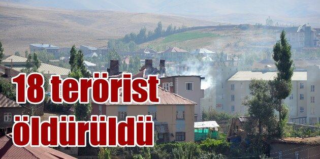 Yüksekovada 18 terörist etkisiz hale getirildi