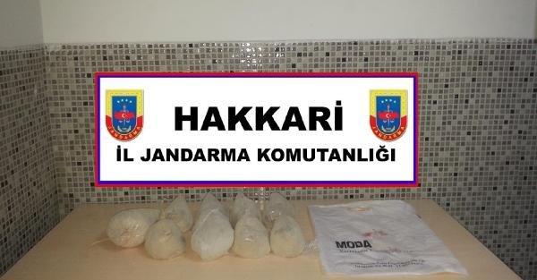 Yüksekova'da 5 kilo eroin ele geçirildi