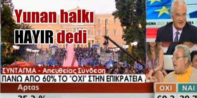 Yunan halkı AB dayatmasına hayır dedi: Çipras şimdi daha güçlü