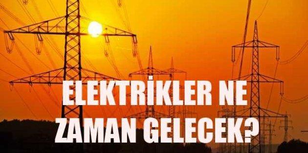 Zeytinburnu elektrikler ne zaman gelecek?