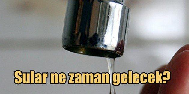 Zeytinburnu' su kesintisi, sular ne zaman gelecek