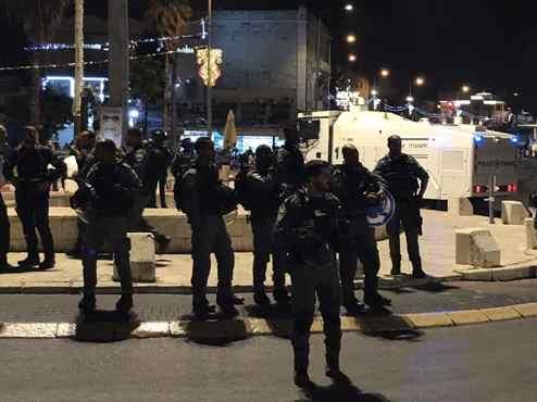 Description: תגבור כוחות משטרה במזרח ירושלים